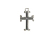 Sterling Silver Double Walled Cross Charm with Jumpring