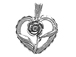 Sterling Silver Heart with Rose Charm