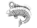 Sterling Silver Bass Fish Charm