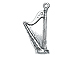 Sterling Silver Harp Charm