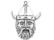 Sterling Silver Viking Head Charm