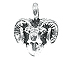 Sterling Silver Ram Head - Charm