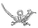 Sterling Silver Road Runner Charm