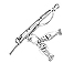 Sterling Silver Fishing Pole Charm