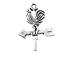 Sterling Silver Rooster Weather Vane Charm