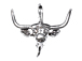 Sterling Silver Longhorn Steer Head Charm