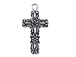 Sterling Silver Floral Cross Charm