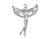 Sterling Silver Right Facing Winged Fairy Charm