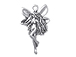 Sterling Silver Left Facing Winged Fairy Charm