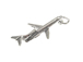 Sterling Silver Airplane Charm with Jumpring