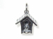 Sterling Silver Bird House Charm with Jumpring