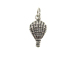 Sterling Silver Hot Air Balloon Charm with Jumpring