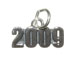 Sterling Silver 2009 Horizontal Charm with Jumpring