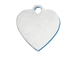 Sterling Silver Flat Polished Engravable Heart Charm