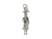 Sterling Silver Girl Graduation Charm