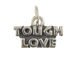 Sterling Silver Tough Love Charm with Jumpring
