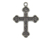Sterling Silver Cross with Scroll Work Charm