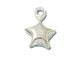 Sterling Silver puffed star charm