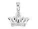 Sterling Silver Crown or Tiara Pendant with Bail with Bail