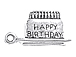Sterling Silver Birthday Cake Charm