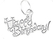 Small Sterling Silver Happy Birthday Cake Charm with Jumpring