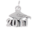 Sterling Silver 2011 Graduation Cap Charm with Jumpring