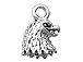 Sterling Silver Eagle Head Charm with Jump Ring