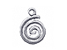Sterling Silver Spiral Charm with Jump Ring