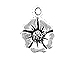 Sterling Silver Poppy Flower Charm with Jump Ring