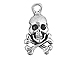 Sterling Silver Skull & Cross Bones Charm with Jump Ring