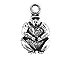 Sterling Silver Gorilla Charm with Jump Ring