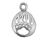 Sterling Silver Bear Paw Print Charm with Jump Ring