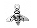 Sterling Silver Honey Bee Charm with Jump Ring