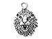 Sterling Silver Lion Head Charm with Jump Ring