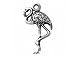 Sterling Silver Flamingo Charm with Jump Ring
