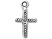 **Very Low Stock**Sterling Silver Cross Charm with Jump Ring