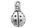 Sterling Silver Lady Bug Charm with Jump Ring