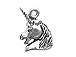Sterling Silver Unicorn Head Charm with Jump Ring
