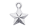 Sterling Silver 5 Point Star Charm with Jump Ring