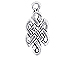 Sterling Silver Celtic Knot Charm with Jump Ring