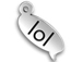 Sterling Silver LOL Text Chat Charm  with Jumpring