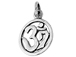 Sterling Silver Om Charm (round ring)