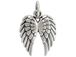 Double Angel Wing Charm Sterling Silver