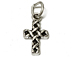 "Sterling Silver Cross charm ""With Jump Ring"""