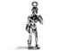 Statue of David Michelangelo Sterling Silver Charm 2.41 Gm