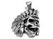 Indian Head Skull with Headress Sterling Silver Charm 4.31 gm