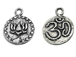Sterling Silver Mantra Om Lotus Charm