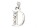 16mm Sterling Silver with SWAROVSKI Rhinestones Letter Charm - D