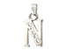 16mm Sterling Silver with SWAROVSKI Rhinestones Letter Charm - N