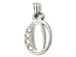 16mm Sterling Silver with SWAROVSKI Rhinestones Letter Charm - O